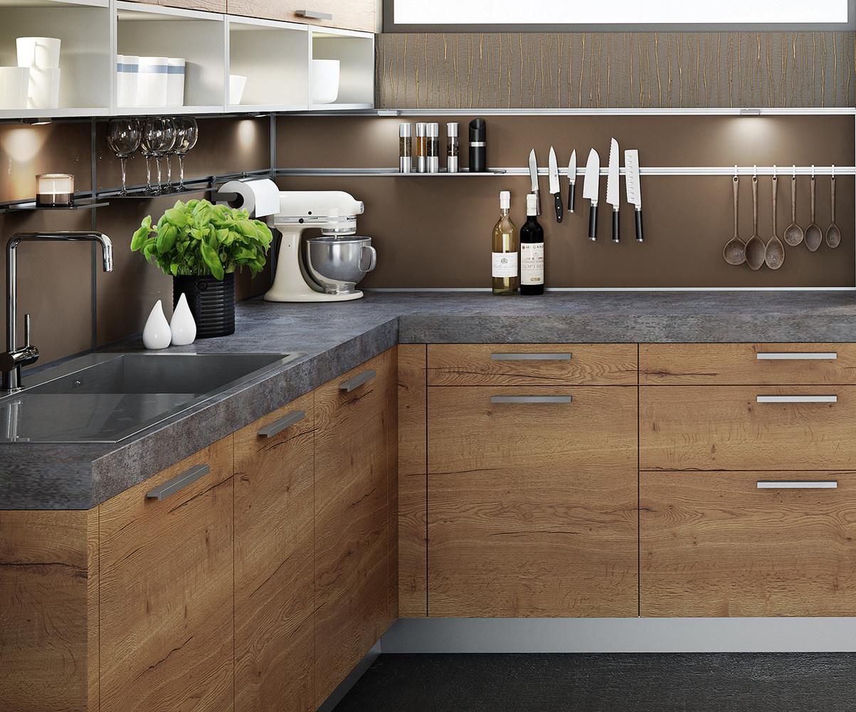 Großzügig Küche Lack Mit Eichenschränke Fotos - Ideen Für Die Küche ...