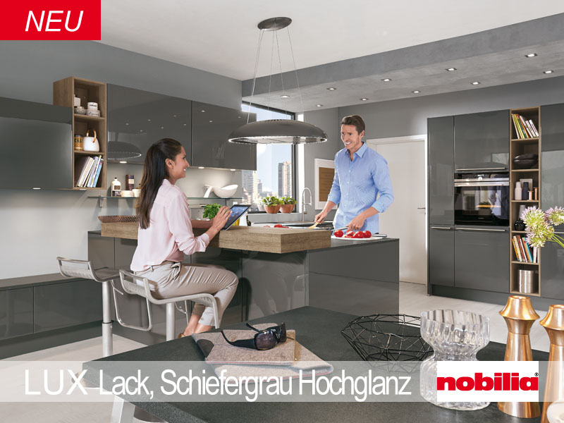 Tiroler Kuchenstudio Nobilia Kuchen Modell Lux Lack Seidengrau Hg